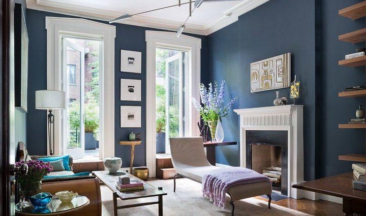 Краска на стенах в гостиной