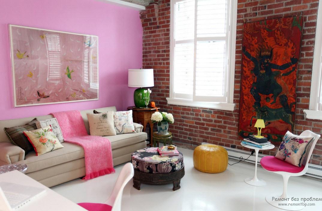 Розовый цвет в интерьере вашей квартиры