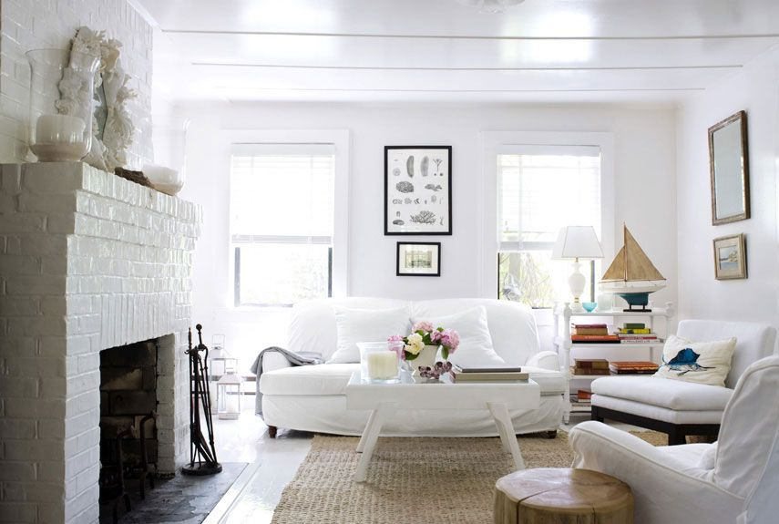35 Best White Living Room Ideas - Ideas for White Living Room Decorating
