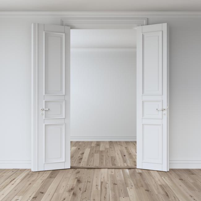 Распашные двустворчатые двери - межкомнатные двустворчатые