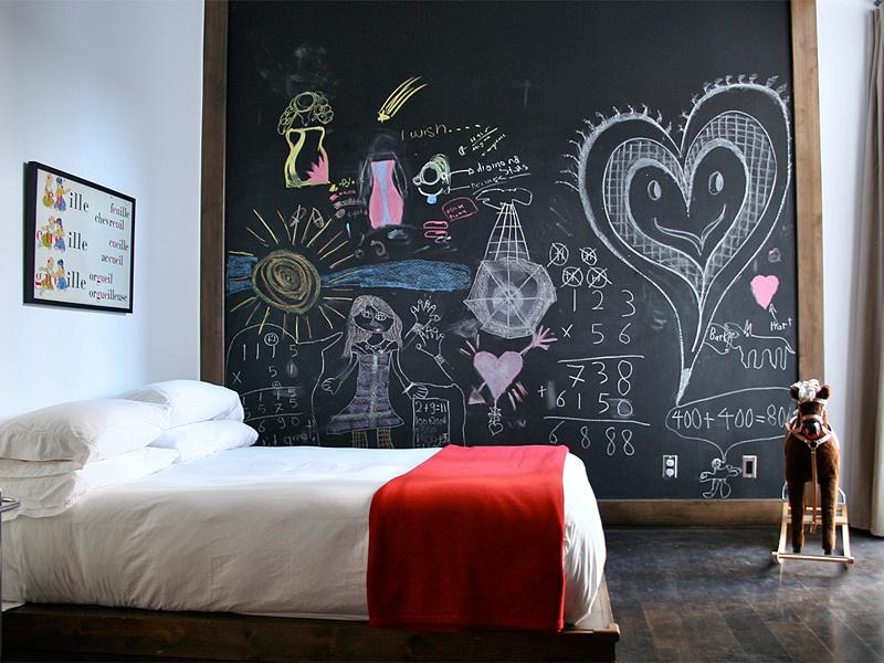 Грифельная краска для детской комнаты