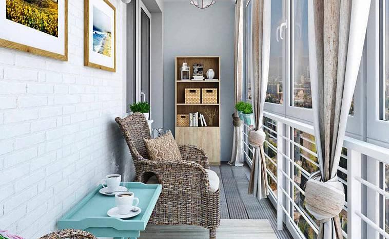 Комната отдыха на балконе