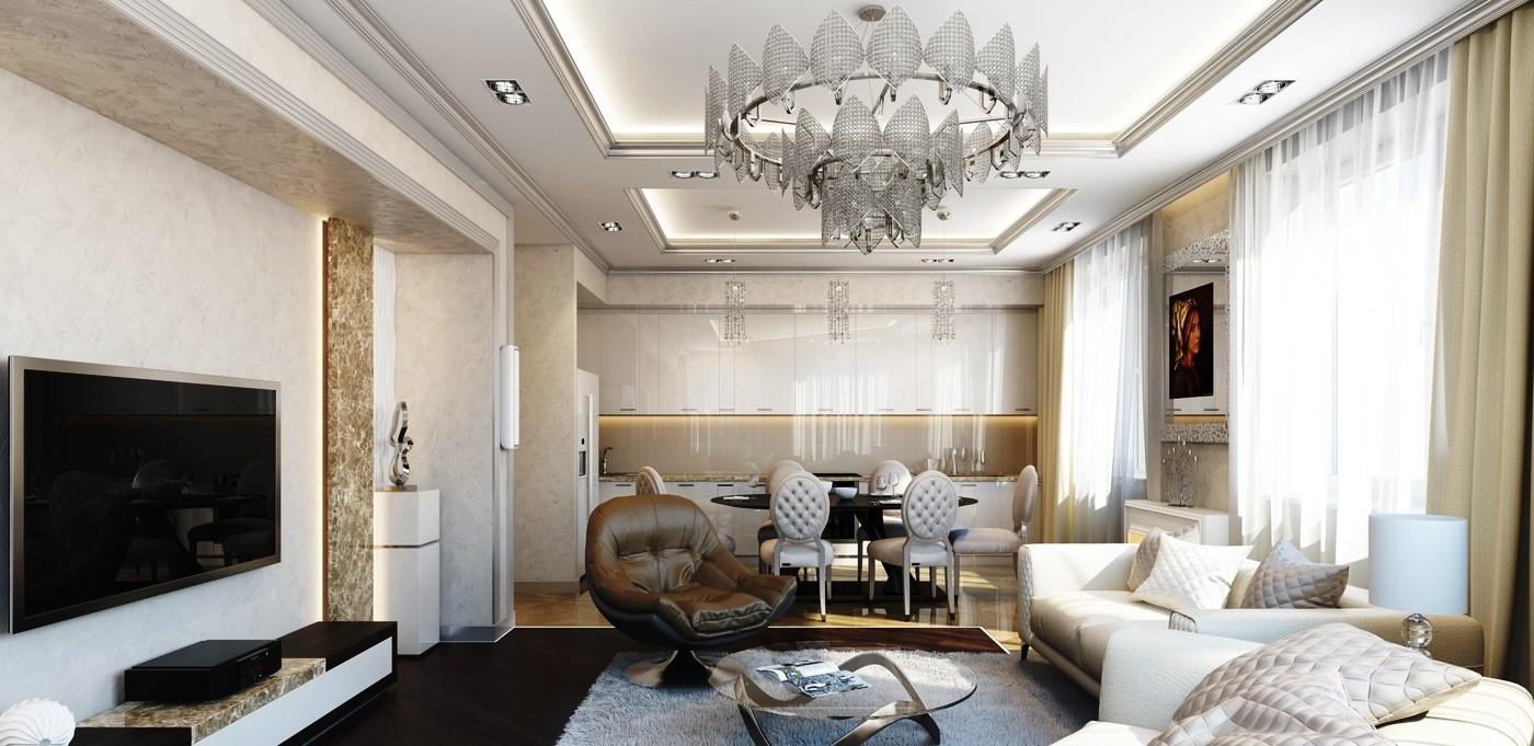Подвесные потолки из гипсокартона: особенности дизайна и монтажа