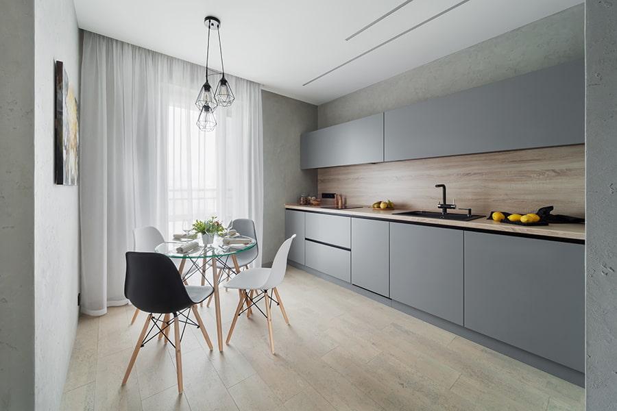 Скандинавский интерьер кухни