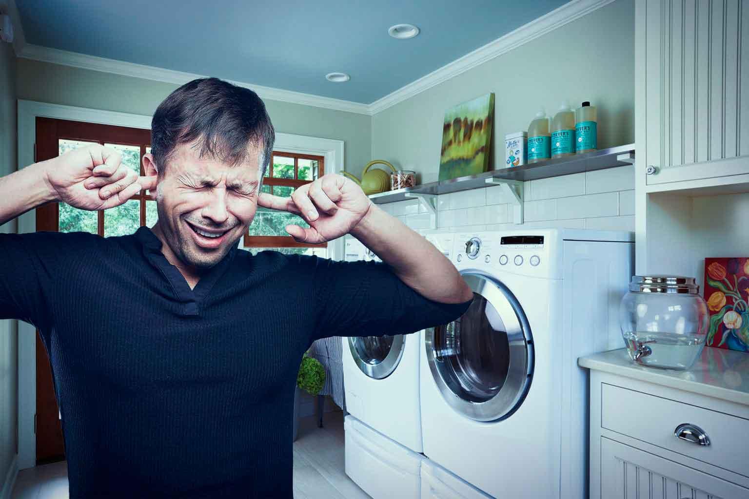 Почему сильно шумит стиральная машина при отжиме - сервис в Москве