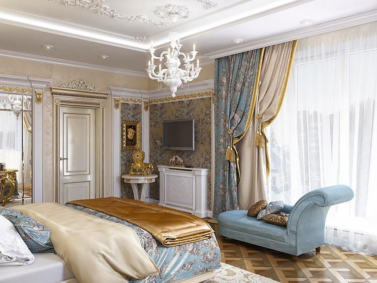 шторы в спальню в классическом стиле фото