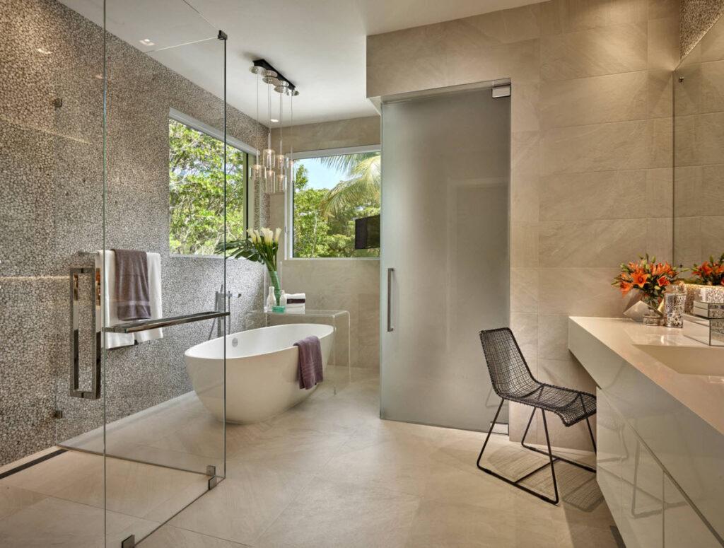 Стильный дизайн ванной комнаты. Фото