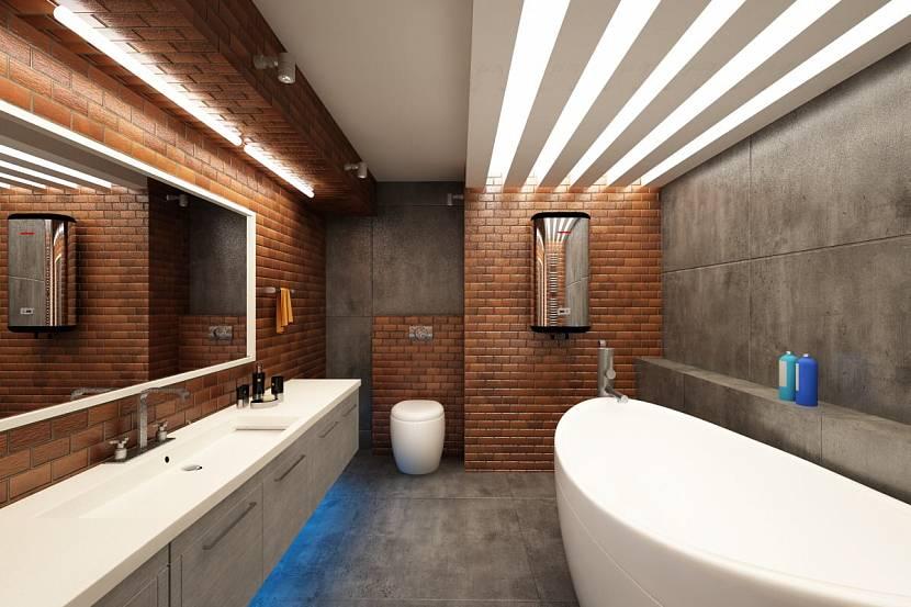 Дизайн ванной комнаты в коричневых тонах