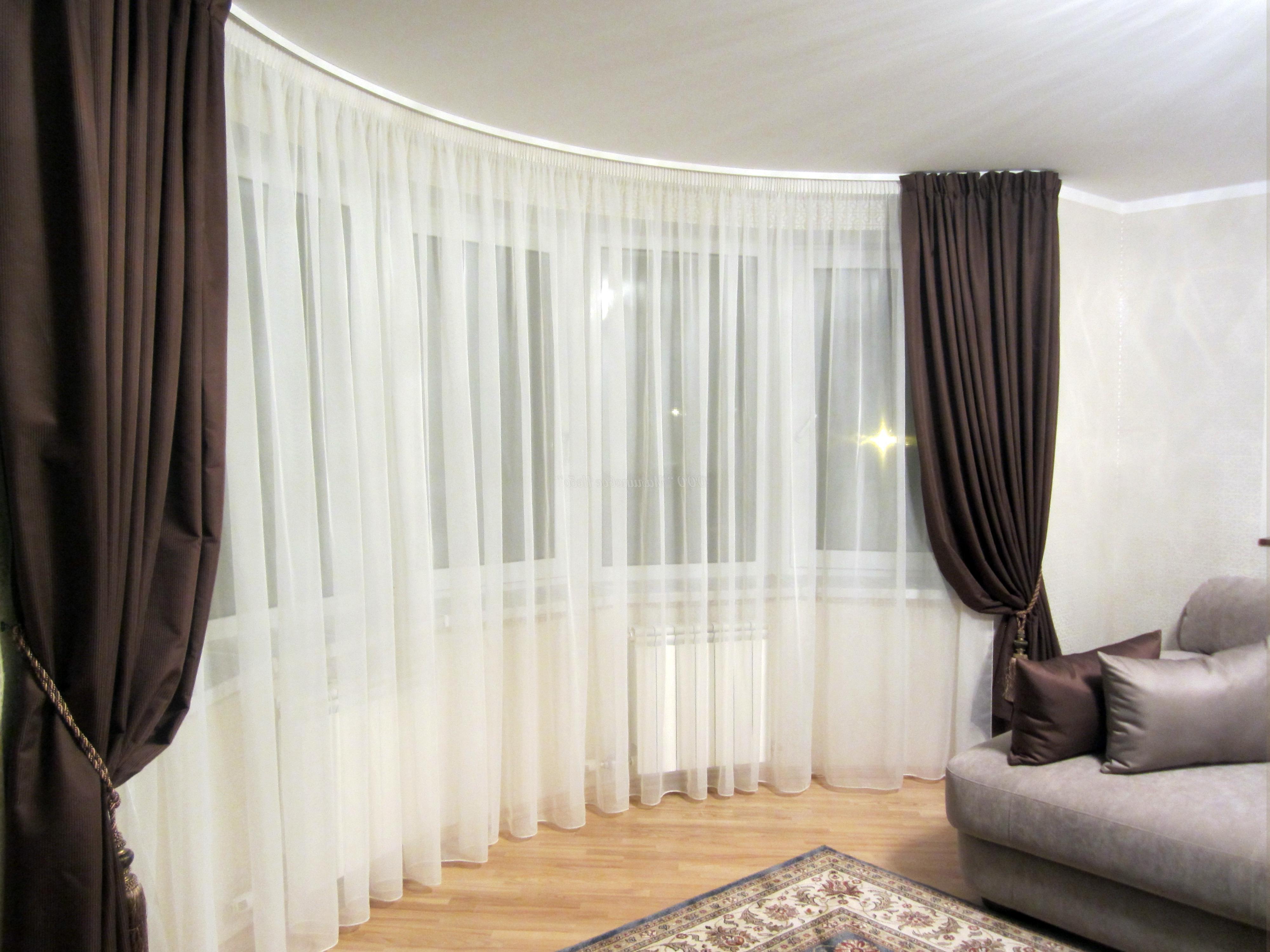дизайн классических штор для гостиной