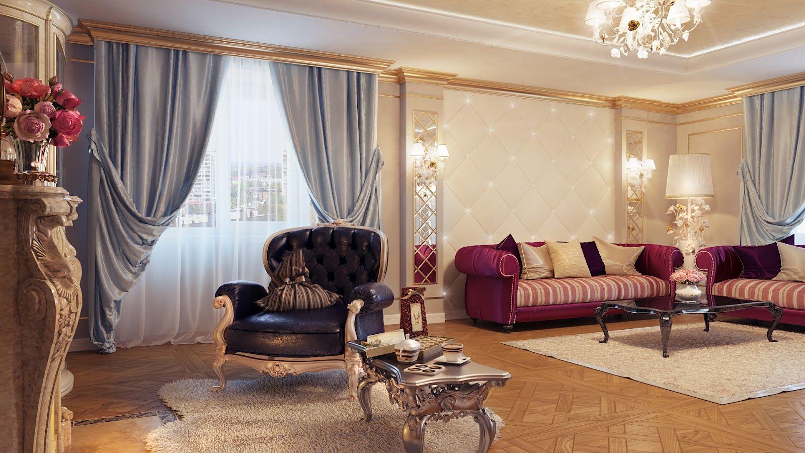 дизайн штор в классическом стиле фото