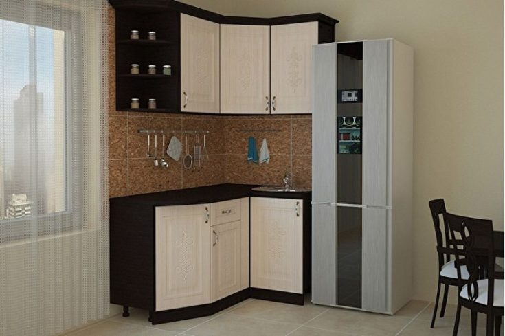 (+137 фото) Кухонные гарнитуры для угловых маленьких кухонь