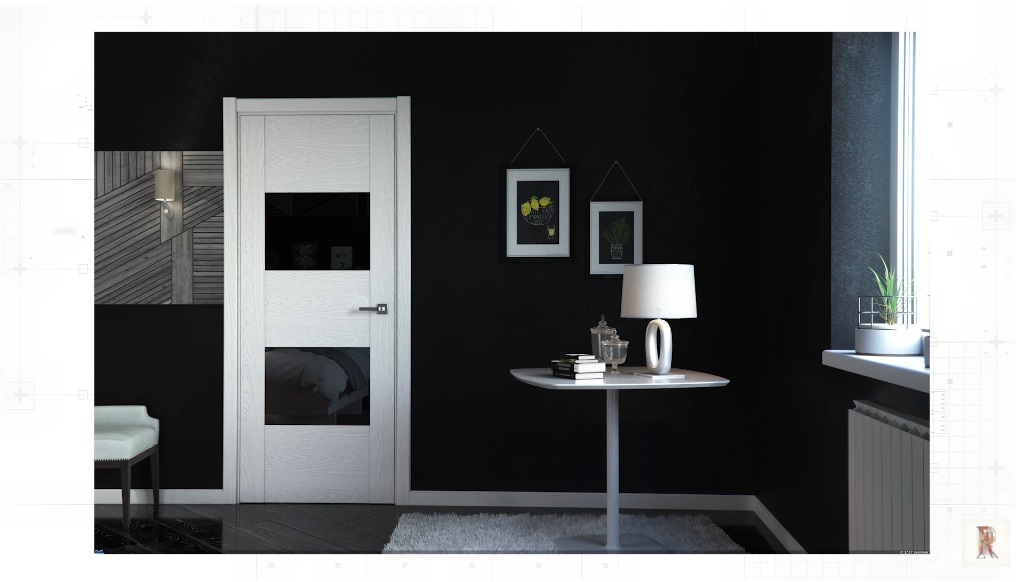 Плинтус в цвет дверей
