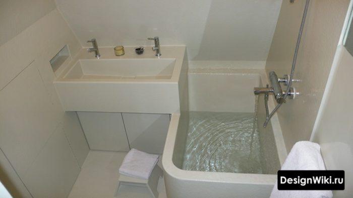 Дизайн ванной меньше чем в хрущевке