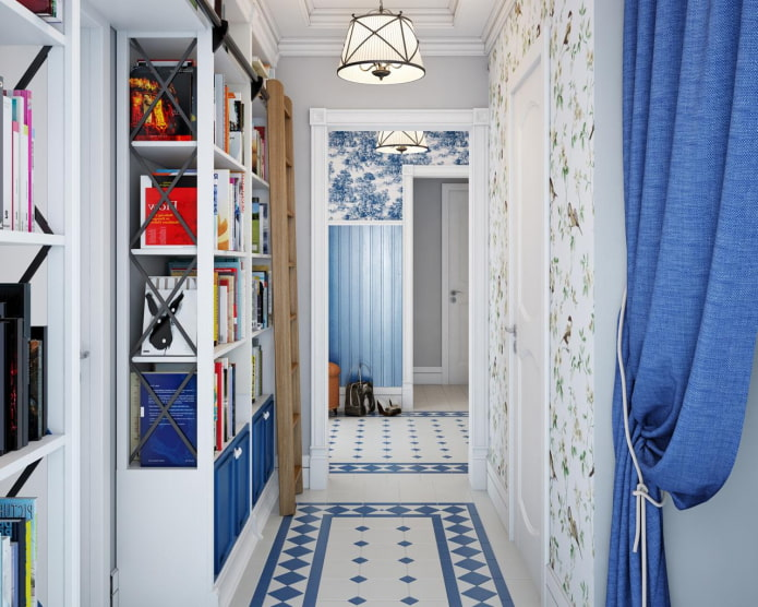 Сине-белая плитка