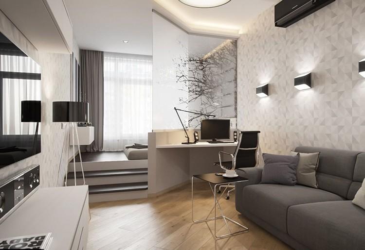 Зонирование комнаты на спальню и гостиную: эффективные приёмы