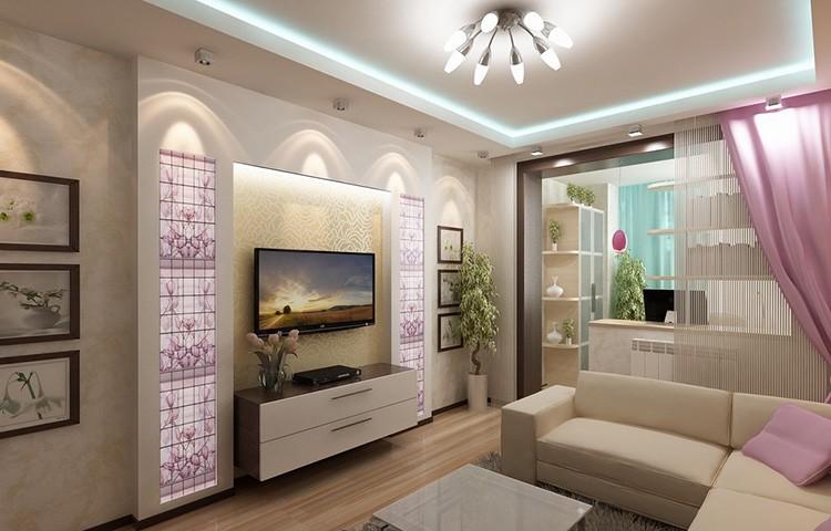 Фото дизайна гостиной-спальни на 18 квадратов