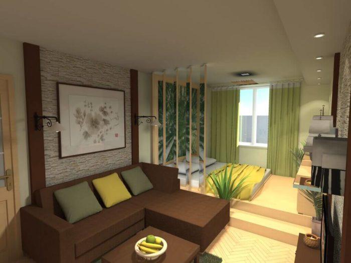 Проект зонирования спальни