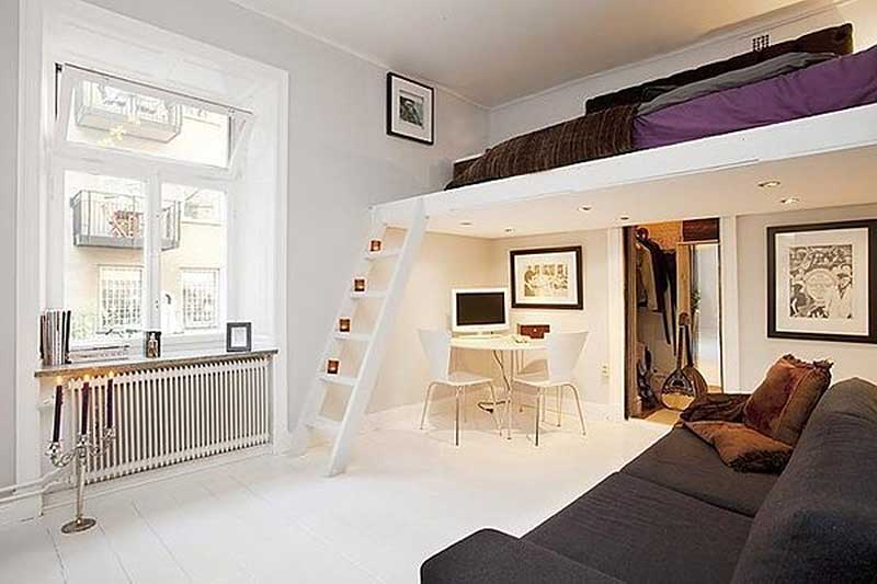 Зонирование комнаты на спальню и гостиную фото 12